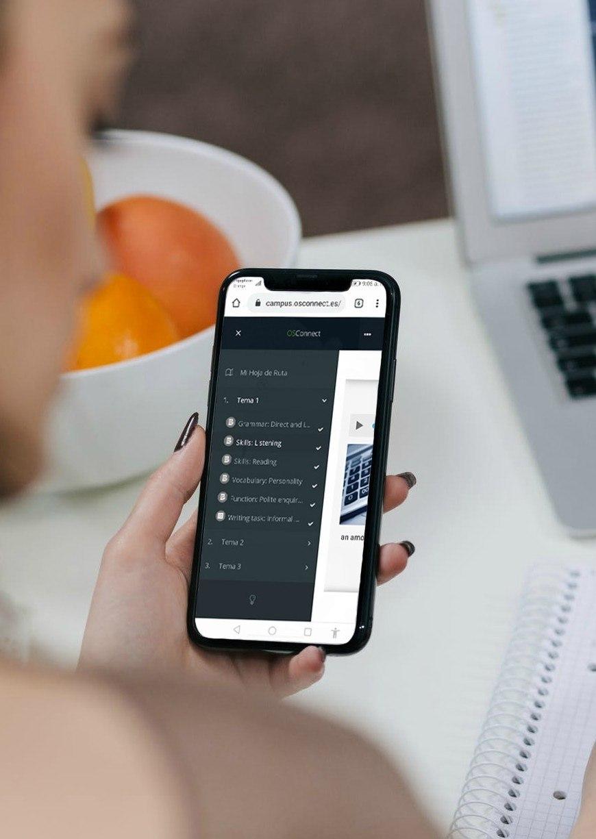 Plataforma en móvil
